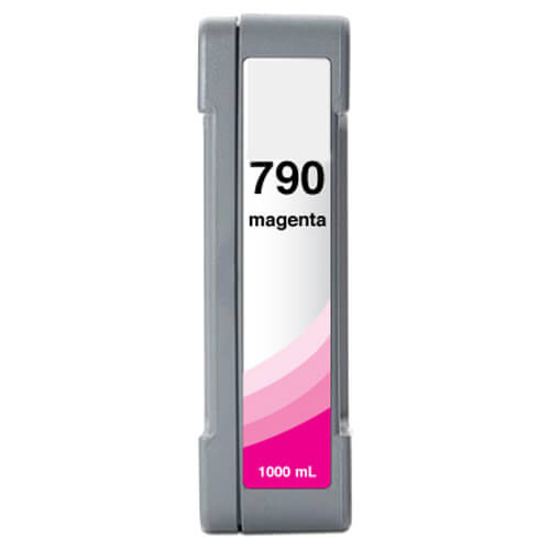 HP 790 / CB273A Replacement Low Solvent Magenta Ink Cartridge - 1000ml
